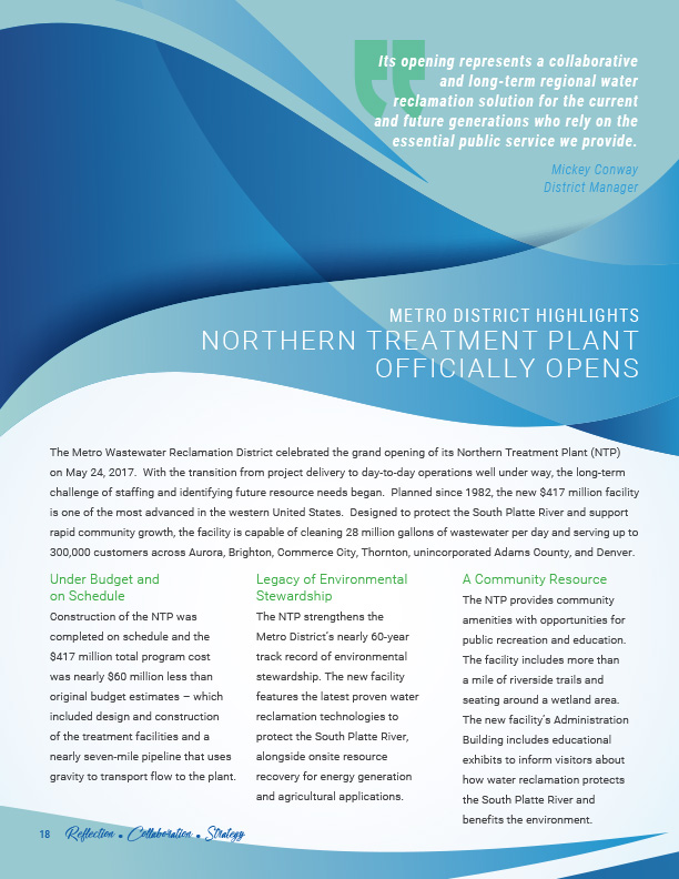 Annual Report for Wastewater Treatment Facility • All